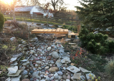 Dry Creek Bed with Bridge